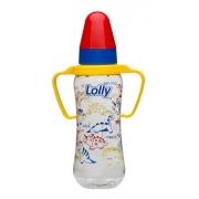Mamadeira Com Alça Bico Silicone Tricolor 240 Ml Lolly
