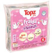 Pacote Fralda pano menina algodão 5 unidades Topz Baby