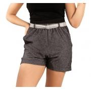 Shorts Moletom Juvenil Menina Com Cinto Bolso Lateral