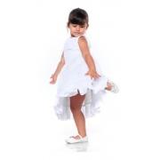 Vestido Para Festa Batizado Branco Infantil