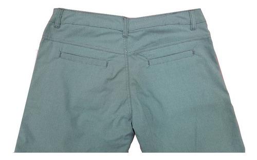 Bermuda De Sarja Bolso Faca Masculina Com Elastano Embutido