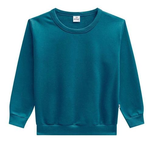 Blusa casaco moletom menino infantil flanelado - 4 - Azul