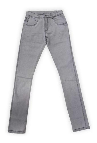 Calça Jeans Clara Masculina Slim Fit Com Lycra Skinny - Cinza - 44