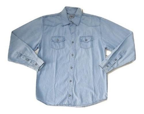 Camisa Jeans Manga Longa Masculina Nacional Pronta Entrega