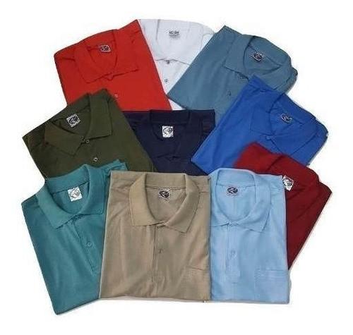 Camiseta Polo Bolso Algodão Manga Curta Camisa Sem Gênero