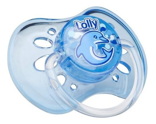 Chupeta 100% Silicone Oceano Orto Ot2  Lolly Azul