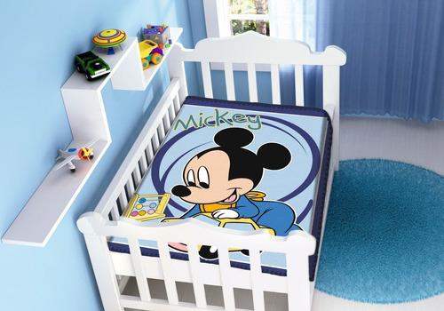 Cobertor Mickey Minnie Infantil Bebê Berço Não Alérgico