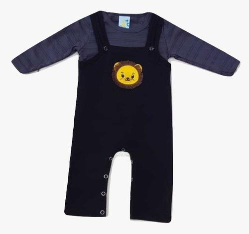 Conjunto Macacão Camiseta Manga Longa Bebê D'bimbi