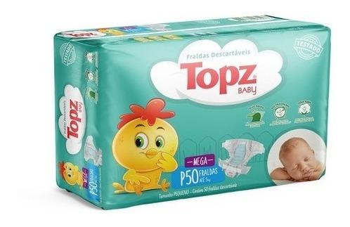 Fralda Descartável Topz Baby Mega P Ao Xg
