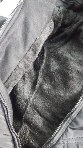 Jaqueta Nylon Forrada Peluciada Infantil Juvenil Com Capuz