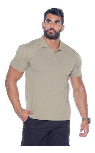 Kit 2 Camisetas Polo Bolso Manga Curta Camisa Gola Polo
