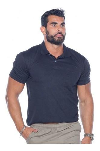 Kit 3 Camisetas Polo Bolso Manga Curta Camisa Gola Polo