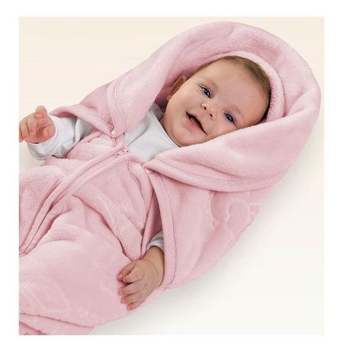 Manta Bebê Baby Sac Rosa Saco De Dormir Cobertor Jolitex
