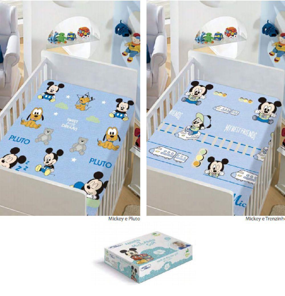 Manta de microfibra soft Mickey menino Disney Baby Jolitex