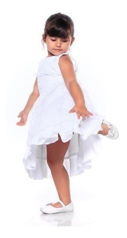 Vestido Festa Batizado Formatura Branco Infantil