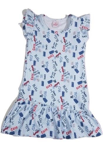 Vestido Infantil Menina Estampado Manguinha Fresquinho