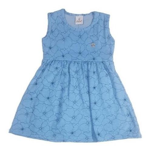 Vestido Infantil Menina Floral Com Forro Por Baixo Abrange