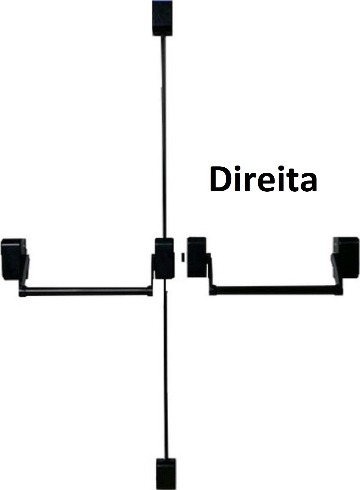 Barra AntiPânico dupla para Porta Com Fechadura com Chave Maçaneta externa