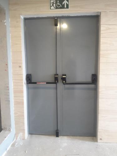 Barra Antipânico para porta dupla sem fechadura maçaneta externa