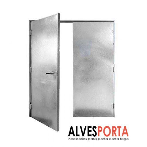 Porta Corta Fogo P90 Dupla com fechadura porta de emergência 200x210