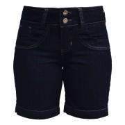 Bermuda Jeans Feminina Black Plus Size Tamanho 44