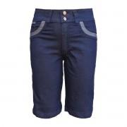 Bermuda Jeans Feminina Cintura Alta Plus Size Tamanho 50