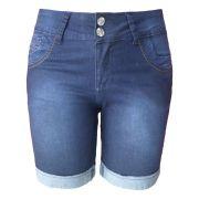 Bermuda Jeans Lixada C/ Detalhe Traseiro Tamanho 40