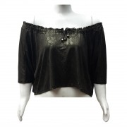 Blusa Cropped Ampla Plus Size