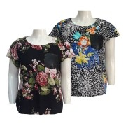 Blusa Feminina de Viscose Estampada Plus Size