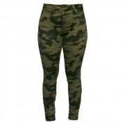 Calça Feminina Skinny Estampa Militar