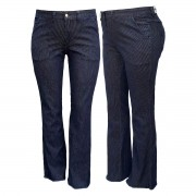 Calça Jeans Feminina Boot Cut Plus Size