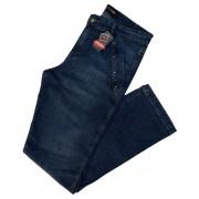 Calça Jeans Feminina C/ Detalhes Nos Bolsos Plus Size