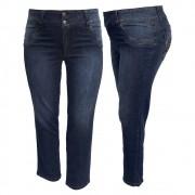 Calça Jeans Feminina C/ Ziper Na Perna Plus Size