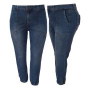 Calça Jeans Feminina Jogger Plus Size