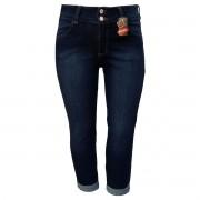 Calça Jeans Feminina Skinny Cropped Plus Size