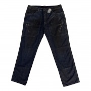 Calça Jeans Masculina Cargo Vintage Plus Size Tamanho 54