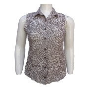 Camisa Feminina Estampa De Onça Plus Size