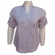 Camisa Nervura Feminina Plus Size