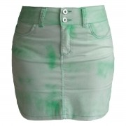 Mini Saia Verde Tie Dye Plus Size