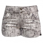 Short Jeans Feminino Boxer Estampado Plus Size