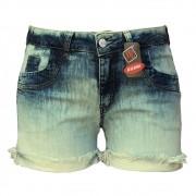 Short Jeans Feminino Sky Com Barra Virada Plus Size