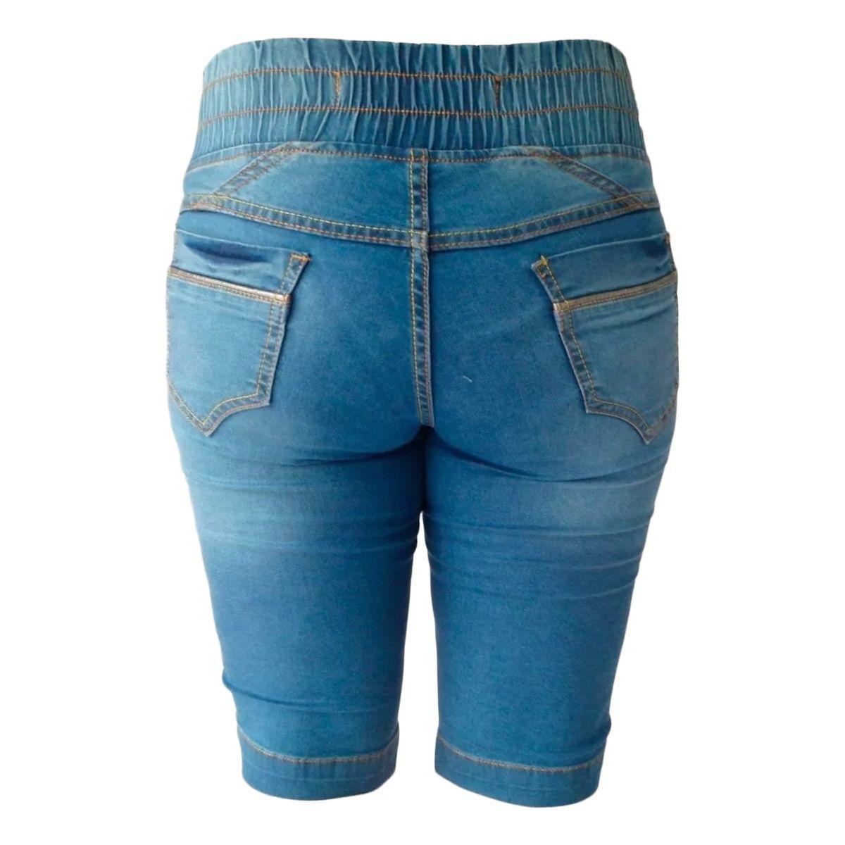 Bermuda Jeans Ciclista C/ Elástico Tamanhos 38 e 40