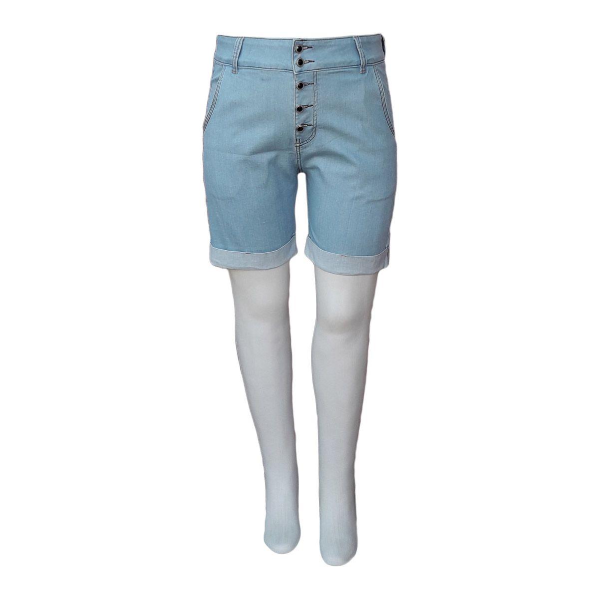 Bermuda Jeans Feminina Boyfriend Plus Size