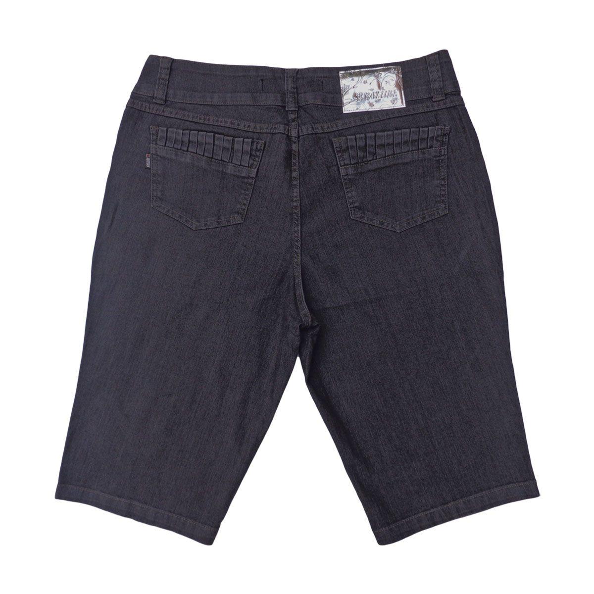 Bermuda Jeans Feminina Ciclista Modelo 3 Plus Size 50 A 56