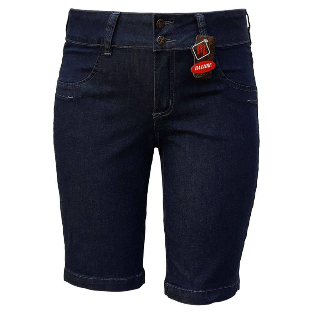 Bermuda Jeans Feminina Ciclista Plus Size