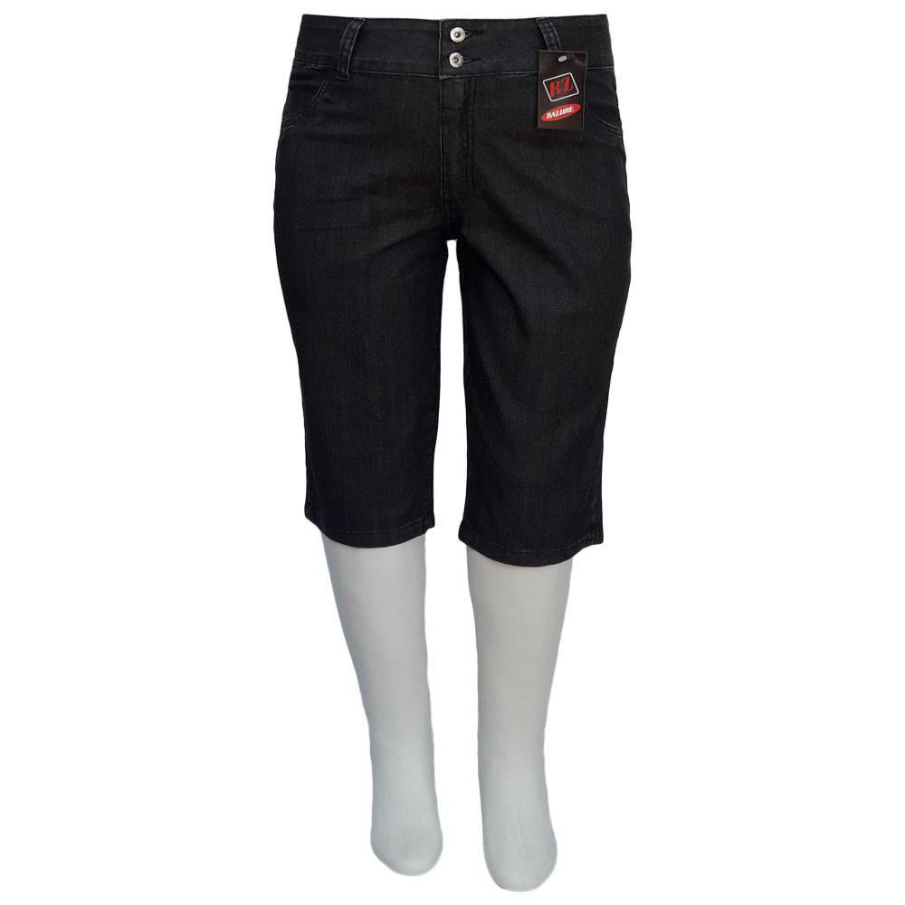 Bermuda Jeans Feminina Corsário Cintura Alta Plus Size