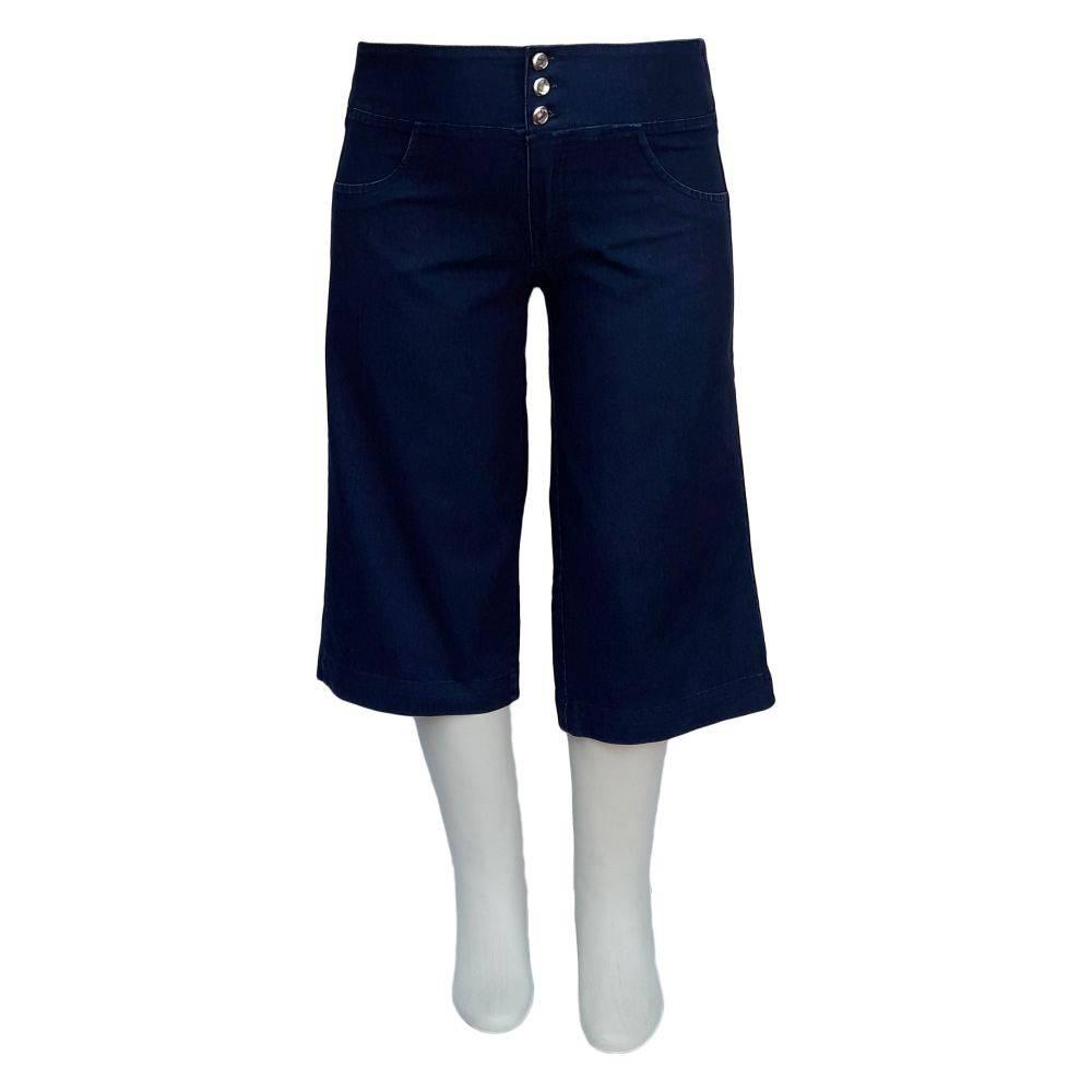 Bermuda Jeans Feminina Pantacur Com Elástico Plus Size