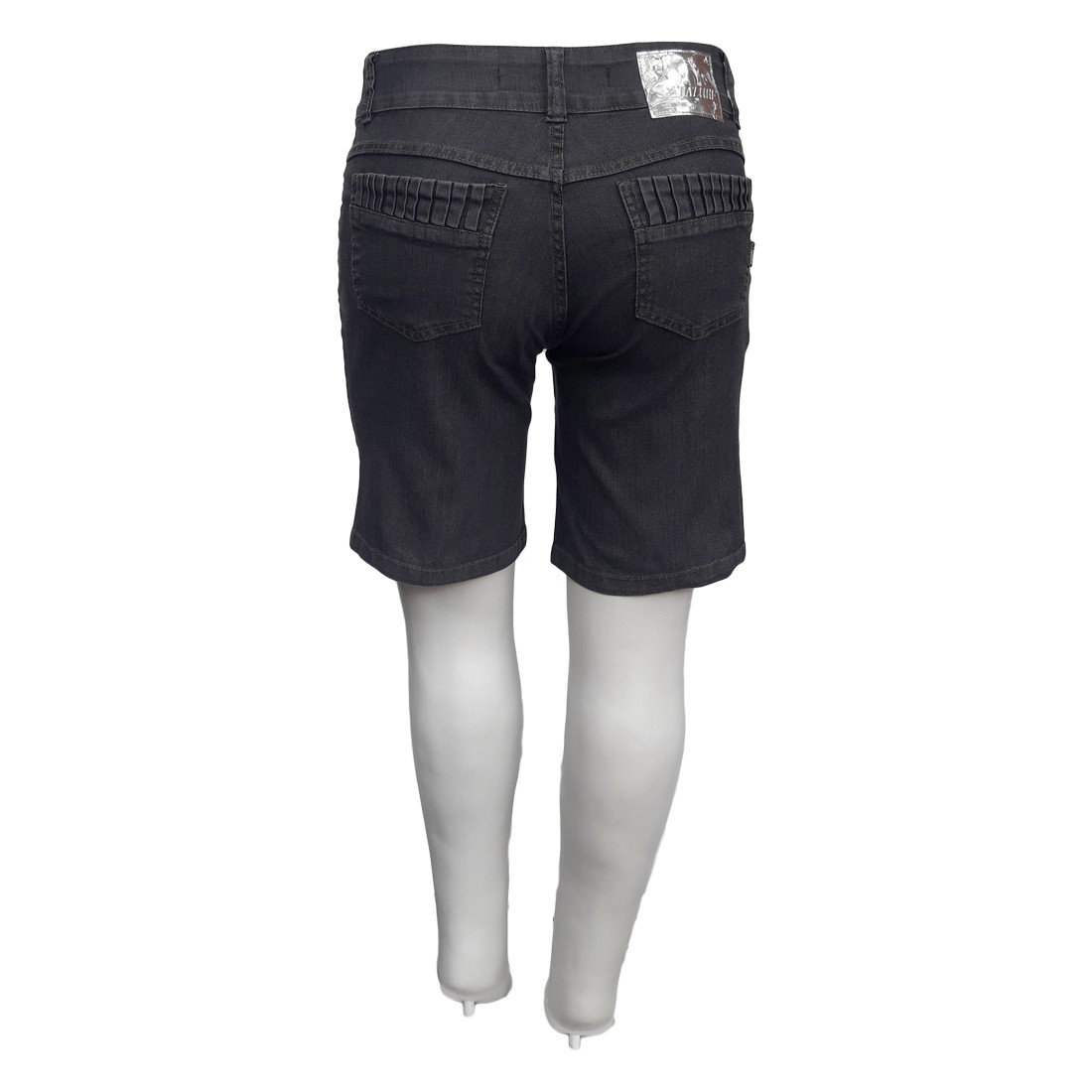 Bermuda Jeans Feminina Plus Size Ciclista Mod 4 Cintura Alta