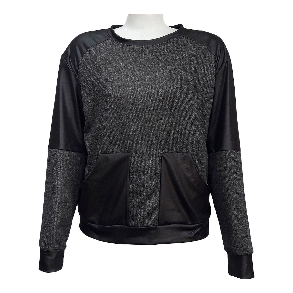 Blusa De Frio Feminina Moletom Plus Size