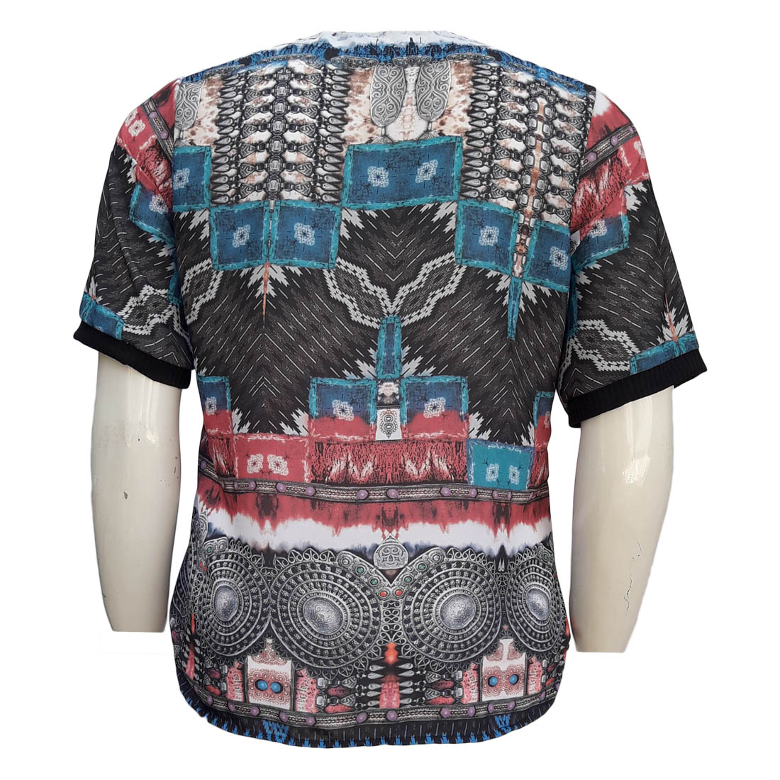 Blusa Feminina Estampada Plus Size Moda Evangélica